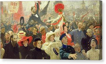 Unrest Canvas Print - October 17th 1905 by Ilya Efimovich Repin
