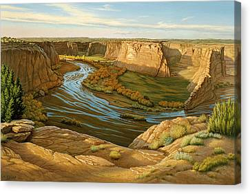 October Afternoon- Canyon Dechelly Canvas Print by Paul Krapf
