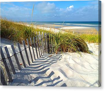 October Beach Canvas Print by Dianne Cowen