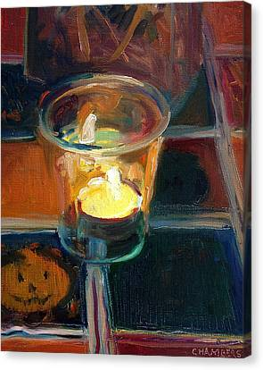 October Candlelight Canvas Print