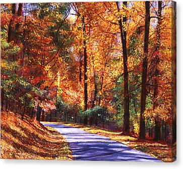 Autumn Leaf Canvas Print - October Colors by David Lloyd Glover