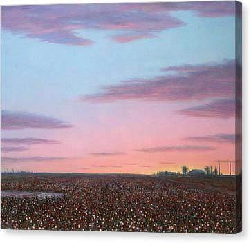 October Cotton Canvas Print by James W Johnson