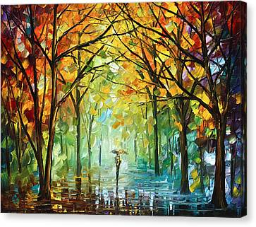 October In The Forest Canvas Print by Leonid Afremov