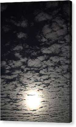 Canvas Print featuring the pyrography October Moon by Joel Loftus