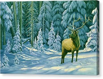 October Snow Canvas Print by Paul Krapf