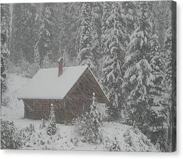 October Snowfall  --  British Columbia  Canvas Print