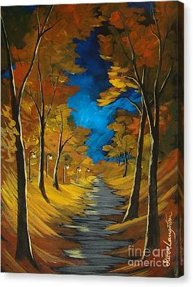 Canvas Print featuring the painting October Stroll by Steven Lebron Langston