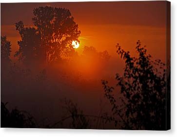 October Sunrise Canvas Print by Judy  Johnson