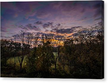 October Sunrise Canvas Print by Randy Scherkenbach