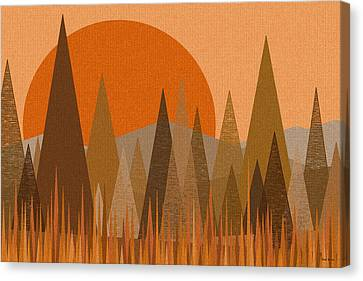 October Sunset Canvas Print by Val Arie