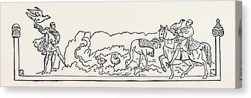 Wine Scene Canvas Print - October Was Called The Cold-monath Or Wyn-monath Wine-month by English School