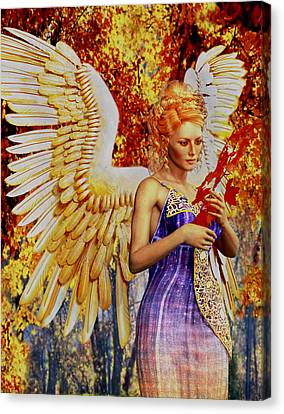 October's Angel Canvas Print by Suzanne Silvir