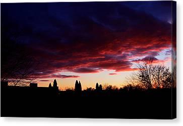 October's Last Sunset Canvas Print