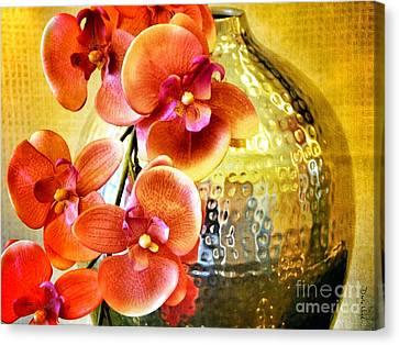 October's Orchids Canvas Print by Darla Wood