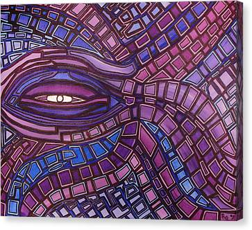 Canvas Print featuring the painting Octopus Eye by Barbara St Jean