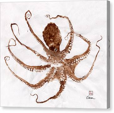 Gyotaku Canvas Print - Octopus Gyotaku by Odessa Kelley
