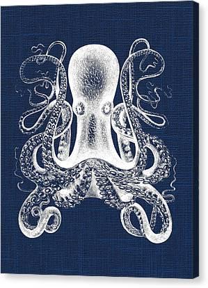 Octopus Nautical Print Canvas Print by Jaime Friedman