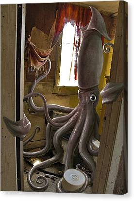 Squid Canvas Print - Ocupados by Mark Zelmer