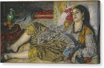 Odalisque Canvas Print by Pierre Auguste Renoir