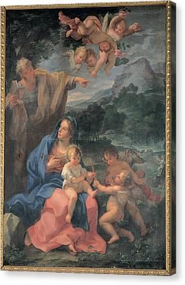 Odazzi Giovanni, Resting On The Flight Canvas Print by Everett