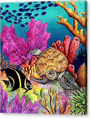 Odd Couple Canvas Print by Carolyn Steele