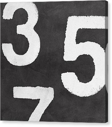 Odd Canvas Print - Odd Numbers by Linda Woods