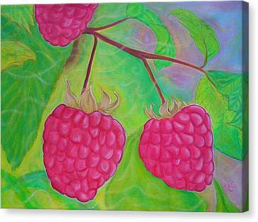 Ode To A Raspberry Canvas Print by Rachel Cruse
