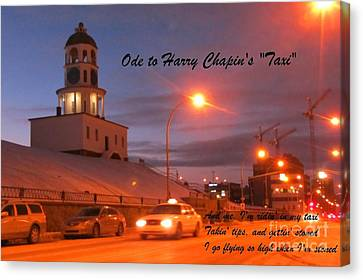 Ode To Harry Chapins Taxi Canvas Print by John Malone