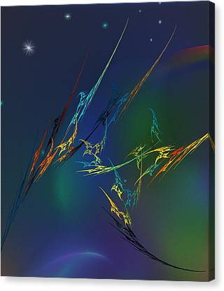 Canvas Print featuring the digital art Ode To Joy by David Lane
