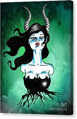 Ode To Maleficent Canvas Print by Christopher Moonlight