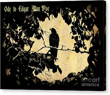 Ode To Poe Canvas Print by John Malone