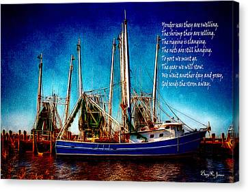 Shrimp Boat Canvas Print - Ode To Shrimpers by Barry Jones