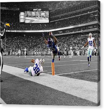 Odell Beckham Breaking The Internet Canvas Print by Brian Reaves