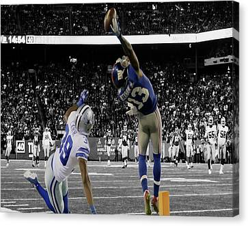 Odell Beckham Greatest Catch Ever Canvas Print by Brian Reaves