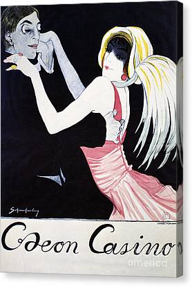 Odeon Casino Poster, 1920 Canvas Print by Granger