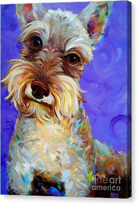 Canvas Print featuring the painting Odie by Robert Phelps