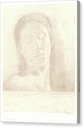 Odilon Redon French, 1840 - 1916. Closed Eyes Yeux Clos Canvas Print by Litz Collection