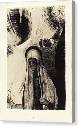 Odilon Redon French, 1840 - 1916, La Vieille Que Crains-tu Canvas Print by Quint Lox