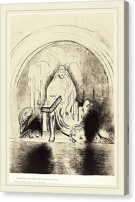 Odilon Redon French, 1840-1916, Puis Je Vis, Dans La Main Canvas Print by Litz Collection