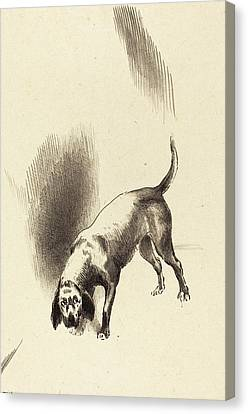 Odilon Redon French, 1840 - 1916, The Dog Canvas Print by Quint Lox