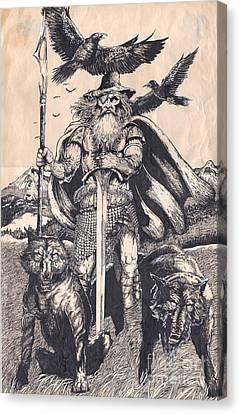 Odin Canvas Print by Joseph Capuana