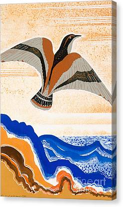 Odyssey Illustration  Bird Of Potent Canvas Print by Francois-Louis Schmied