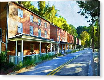 Canvas Print featuring the photograph Oella Avenue by Dana Sohr