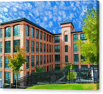 Canvas Print featuring the photograph Oella Mill by Dana Sohr