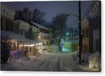 Oella Night Blizzard Canvas Print