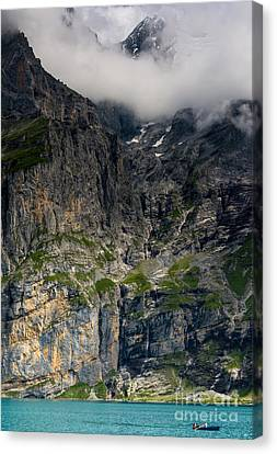 Oeschinensee Mountain - Bernese Alps - Switzerland Canvas Print by Gary Whitton