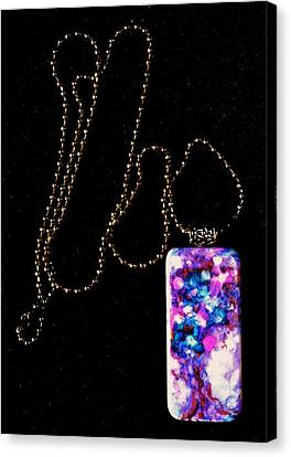 Of Earth Domino Pendant Canvas Print by Beverley Harper Tinsley