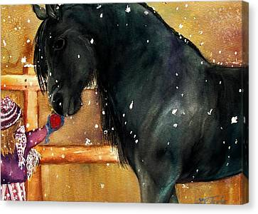 Of Girls And Horses Sold Canvas Print by Lil Taylor