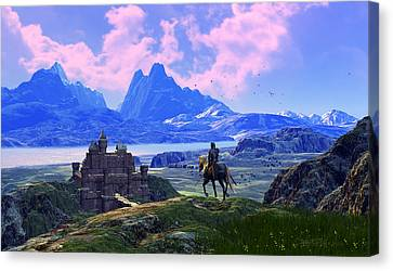 Of Many Knights Canvas Print by Dieter Carlton