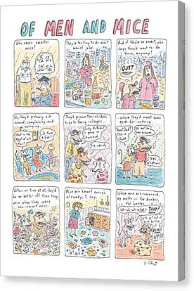 Of Men And Mice Canvas Print by Roz Chast